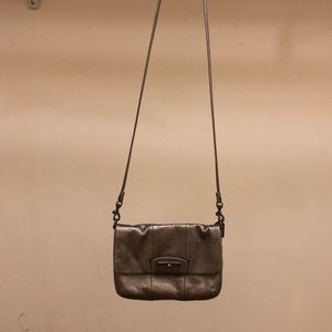 Dark Metallic Coach Purse